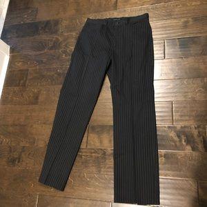 Theory black pinstripe pants
